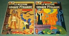 BLAKE ET MORTIMER : Le Mystère de la GRANDE PYRAMIDE - DARGAUD 1969 - 2 tomes