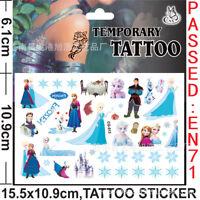 Frozen Princess Anna Elsa Olaf Temporary tattoo sticker birthday party rewards