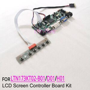 Fit LTN173KT02-H01/B01/D01 40-Pin LVDS LCD panel 1600x900 driver board DIY kit