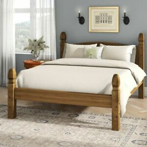 Corona Double Bed 4ft6 Low Foot End Mexican Solid Pine Frame Bedroom Furniture