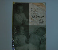 Vintage Patons Knitting Pattern Babies Second Size Woollies 6 - 12 months - 491