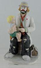 Porcelain Hand Painted Doctor Clown Figurine W/ Stethoscope & Boy Flambro Gift