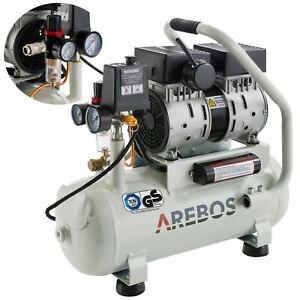 AREBOS Druckluft Flüsterkompressor Luftkompressor 500W 12L Druckbehälter