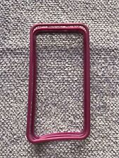 iPhone 4 / 4S Case - Slim Fitting Rubber & Plastic  Edge Cover - Pink