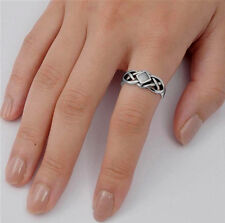 USA Seller Celtic Knot Ring Sterling Silver 925 Best Deal Stone Jewelry Size 7