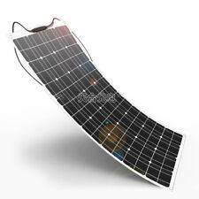 100W Watt Solarmodul 12V Volt Semiflexibel Mono Zellen Flexible Solarpanel