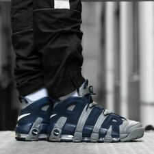 Nike Air More Uptempo 96 Cool Grey Midnight Navy Shoes Trainers UK 9, 9.5