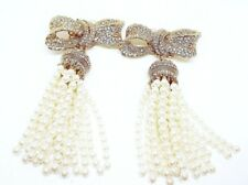 NEW! RARE $1475 DOLCE & GABBANA EARRINGS DESIGNER COUTURE MADE IN ITALY JEWELRY