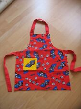 NEW Red Racing Cars Child's Apron with pocket Length 48 cm Width 43 cm Handmade