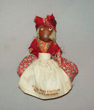 "Old Vtg 1940s Small Hand Made Folk Art Pecan Doll Souvenir Beauvoir 5"" Tall"