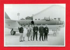 Photo of Colonel Hadley Thompson w/Chinese officials ~ MiG jet ~ Rare original