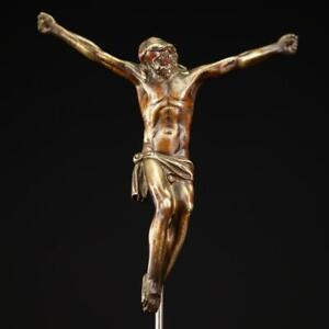 Corpus Christi Sculpture | Jesus Christ Gilded Bronze Statue | Antique 1700s_