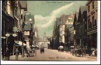 Great Britain ~1920 East Gate Street CHESTER Vintage Postcard (Pferde Fuhrwerk)