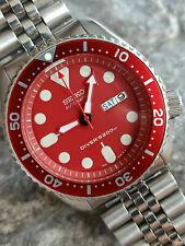 Splendido Rosso mod SEIKO DIVER 7S26-0020 SKX007 Orologio da uomo automatico SN 972321