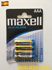 4 Pilas Blister MAXELL AAA LR03 MN2400 Alkaline Battery alcalina Original 1.5V