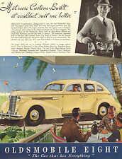 Lansing, MI. Oldsmobile Eight, $785, - $890, Golfers, 1937, Vintage Ad
