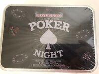 Nostalgic Games/Gifts in Vintage Tin Box - poker night