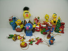 Sesame Street Figures and Christmas Ornaments Cars Lot