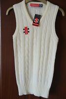Gray-Nicolls branded Cricket Slipover, Cream, Age 9/10, Acrylic, V-neck, BNWT