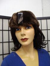 "EXCELLENT & SHEARED BEAVER FUR HEADBAND HEAD WRAP WOMEN WOMAN SZ 22.5"" X 3.5"""