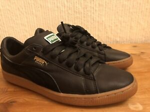 Mens Trainers Puma Shoes Size 7.5 Black Tan Sole New