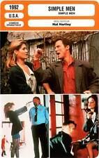 FICHE CINEMA : SIMPLE MEN - Burke,Sage,Donovan,Hartley 1992