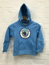 Manchester City FC Kid's Core OTH Large Crest Hoodie - Blue - New