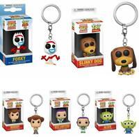 Disney Funko POP Pocket Keychain Mini Alien Forky Woody Action Figures With Box