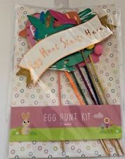 7 piece Easter egg hunt kit  party sings decorations party supplies
