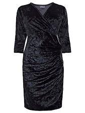 BNWT GRACE @ EVANS BLACK VELVET DRESS WITH STRETCH 14 16 Party Evening Dress