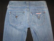 Hudson Jeans Signature Bootcut Low Waist w Flap Pockets Distressed Sz 28