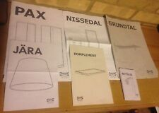6 x IKEA INSTRUCTIONS MANUALS: Pax Jara Nissedal Komplement Grundtal & Betydlig