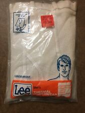 Vintage Lee Thermal Underwear Xl Extra Large Circular Knit Nip Made In Usa