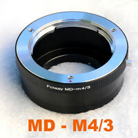 Minolta MD MC ROKKOR lens Micro 4/3 Adapter Olympus E-PL5 E-MP1 E-MP2 OM-D E-M5