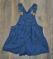 NEXT Baby Girl Blue Denim Look Dungarees Shorts 18-24 Months