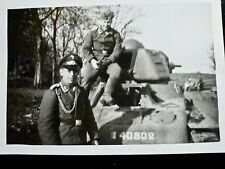 Photo ORIGINALE foto WW2 WWII : Char Français ** HOTCHKISS H-35 ** LUFTWAFFE