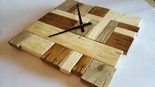 Orologio da parete muro legno stile shabby chic meccanismo moderno vintage 40x40
