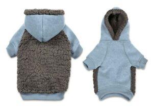Cute Cozy Fleece Hoodies For Dogs Warm Blue Fashion Pet Sweater - Choose Size