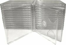 (25) CD2R10CL Double CD Jewel Boxes Cases SLIMLINE with Clear Tray Standard Size