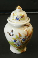 VINTAGE GINGER JAR HAND PAINTED TOYO TROPICAL ORCHID DESIGNED BY MAGIE JAPAN 7""