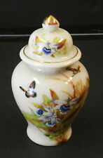 """VINTAGE GINGER JAR HAND PAINTED TOYO TROPICAL ORCHID DESIGNED BY MAGIE JAPAN 7"""""""