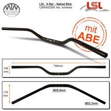Lsl X-Bar - Naked Vélo Guidon Aluminium Noir Mat 28,6mm