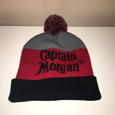 0b6dc9c62f0 Captain Morgan Spiced Rum Winter Hat Pom Pom Black Red Gray Adult Mens One  Size