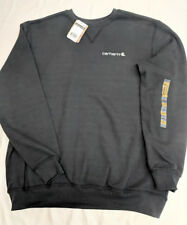 Carhartt Mens Midweight Graphic CREWNECK sweatshirt BLACK  Large [BX40-3307]