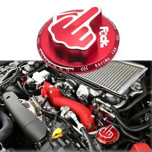 For Toyota JDM RED Screw-In Middle Finger Oil Filler Tank Cap Valve Cover
