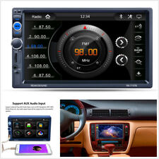 "7"" HD 2Din In-dash Car Stereo Bluetooth Touch Screen FM Radio MP5 Player USB AUX"