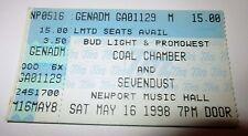 Coal Chamber Sevendust Ticket Stub Columbus Ohio Newport Music Hall 1998