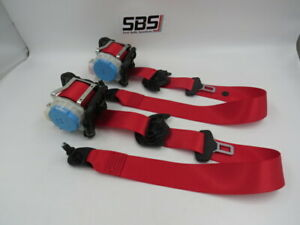 MERCEDES A CLASS W176 FRONT SEAT BELTS 2013-17 AMG RED FABRIC