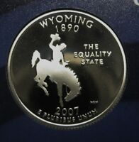 2007-S Wyoming Gem DCAM Clad Proof State Quarter Stunning Coin  DUTCH AUCTION