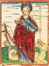 TEDESCO XV secolo St. Margaret Vecchia Pittura Arte Poster Stampa bb5489a